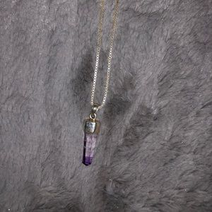 Jewelry - Quartz Crystal & Sterling Silver Necklace